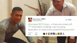 Dhoni's Personal Details Leaked On Twitter By Aadhaar Card Agency, Wife Sakshi Complains to IT Minister Ravi Shankar