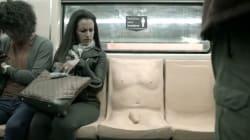 El pene en el asiento del metro generó conmoción en la prensa