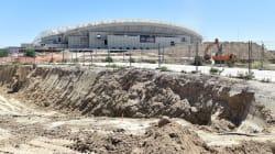 Tremendo susto en las obras del nuevo estadio del Atlético de