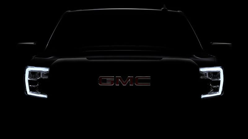 2019 GMC Sierra 1500 pickup teased on Twitter