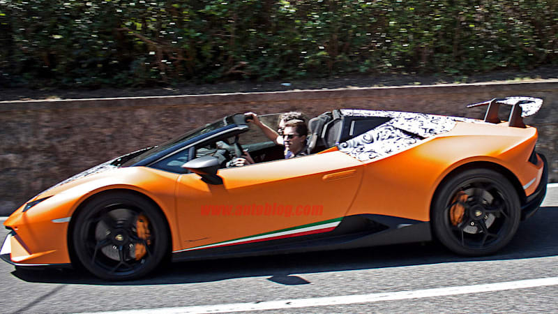 The Lamborghini Huracan Performante Spyder Is A Roofless Mouthful Of