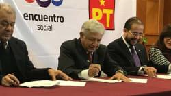 Morena, PES y PT firman la coalición 'Juntos haremos