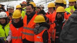 Salvini nel cantiere della Tav: