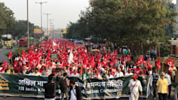 PHOTOS: Farmers From Across The Country March To Ramlila