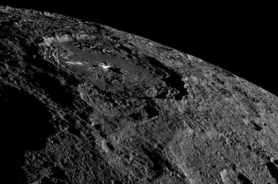 La Nasa a dévoilé une nouvelle photo de la planète naine Cérès.