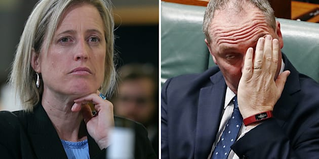 Katy Gallagher is now in the spotlight. Barnaby Joyce has been there for weeks.