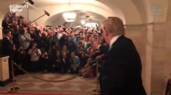 Les visiteurs de la Maison Blanche ont eu droit à cette apparition