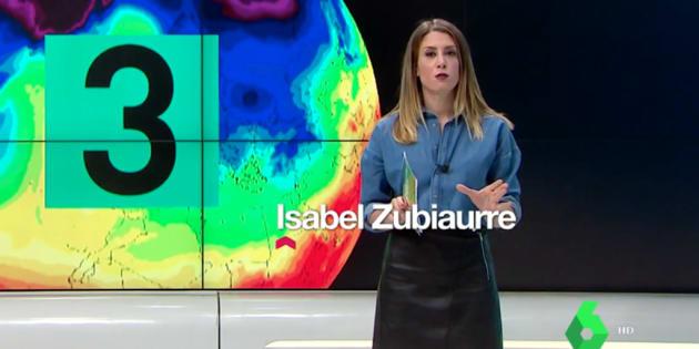 Isabel Zubiaurre, meteoróloga de LaSexta en 'Estación LaSexta' y 'LaSexta Meteo'.