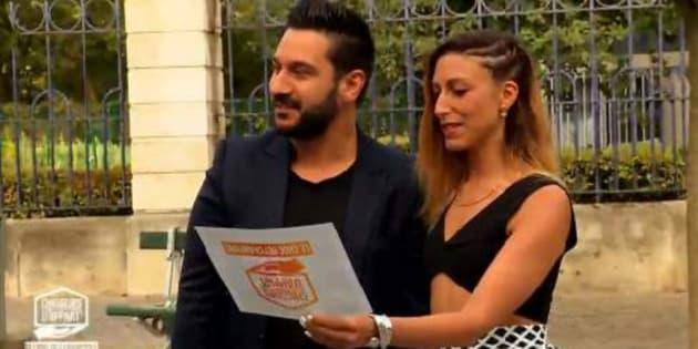 """Denny Imbroisi et Silvia Notargiacomo dans """"Chasseurs d'appart : le choc des champions"""" sur M6."""