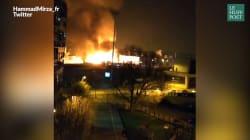 À Bondy, un spectaculaire incendie filmé par les