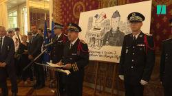Xavier Jugelé décoré de la médaille d'honneur de la police de New