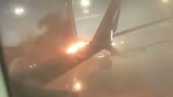 Les images de l'accrochage entre deux avions sur le tarmac de l'aéroport de