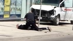 Eyewitness Video Shows Man's Arrest In Toronto After Van Hits