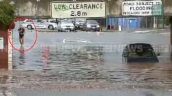 À Melbourne, les inondations provoquent une scène totalement
