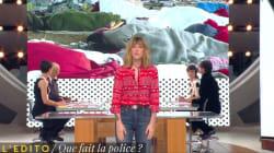 Le coup de gueule de Daphné Bürki contre les policiers qui ont confisqué des couvertures aux
