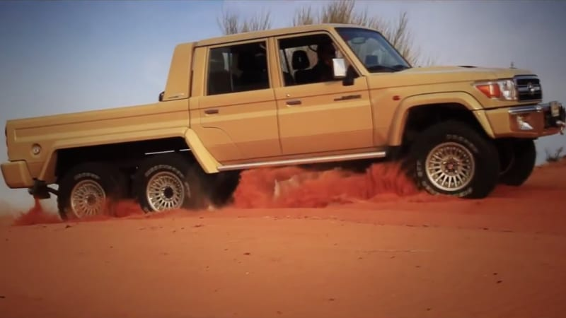 This 6x6 toyota land cruiser ain 39 t afraid of no g63 amg for Mercedes benz g63 6x6 for sale