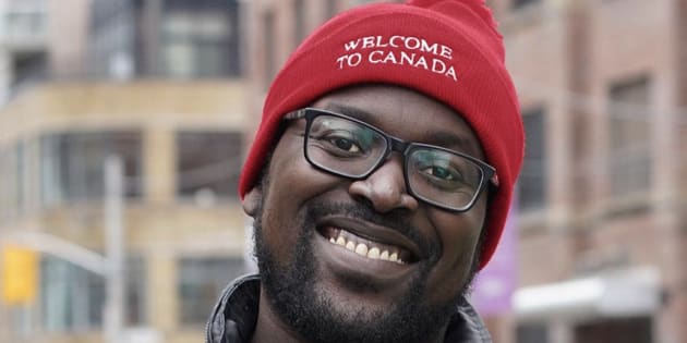 "Victor, who immigrated to Canada from Kampala, Uganda, is proud to ""unravelhate,"" and call Canada home."