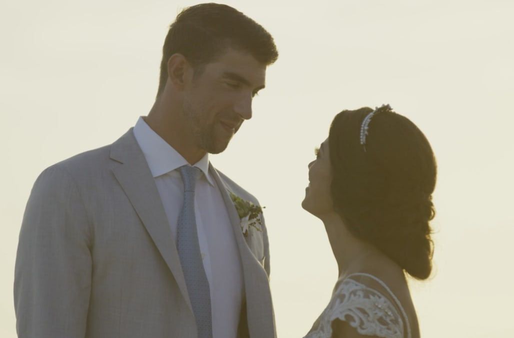 7e28af22670f4 Michael Phelps and Nicole Johnson's wedding video is here and it's  everything