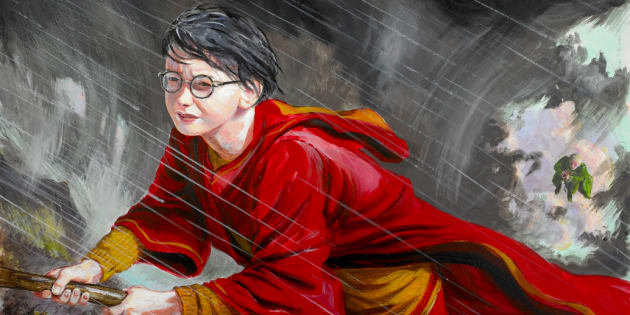 "Ilustrador Jim Kay retrata cena de ""Harry Potter e a Câmara Secreta""."