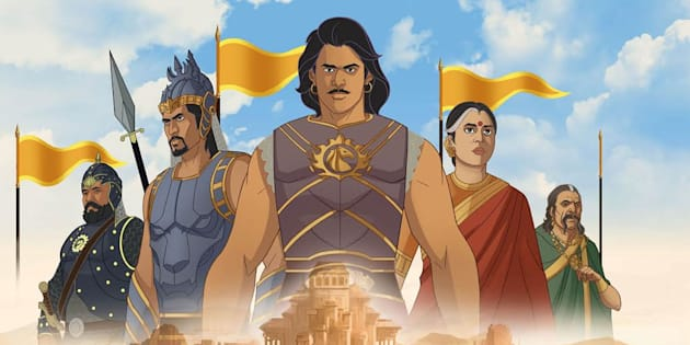 """A poster of 'Baahubali: The Lost Legends"""" an animated series that will stream on Amazon Prime Video."""