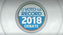 TV Record transmite debate com candidatos a presidente neste