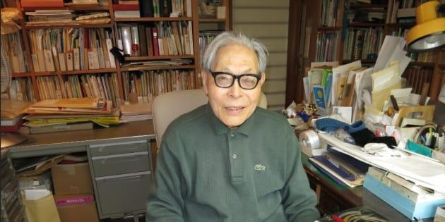 かこさとしさん=2013年4月25日、神奈川県藤沢市