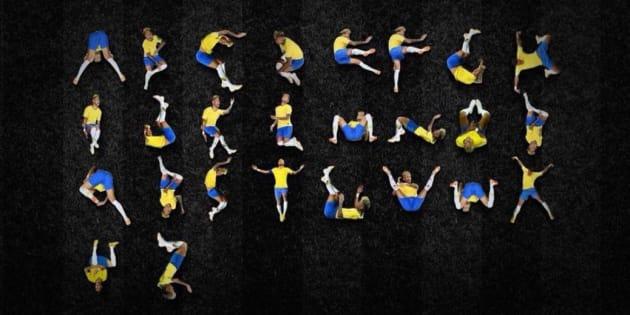 El original alfabeto de Neymar.