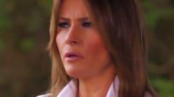 El sentido lamento de Melania Trump durante una entrevista en pleno