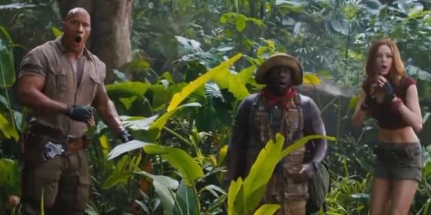 """Le premier trailer musclé de """"Jumanji"""", dévoilé par The Rock"""