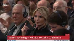 Merkel se burla del Gobierno de Trump... e Ivanka es la única que no se