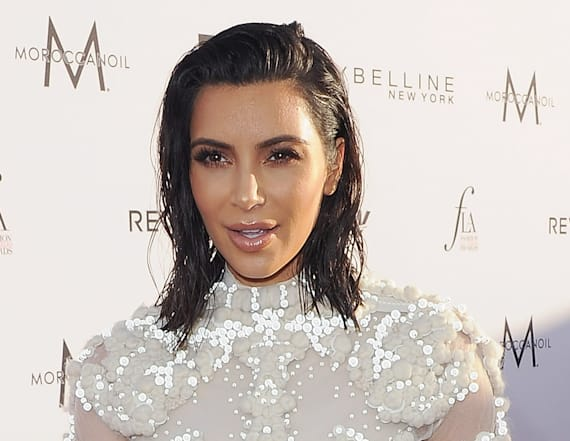Kim Kardashian wows in sheer gown