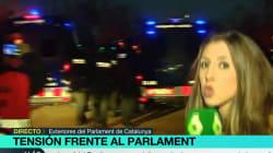 La reacción de una reportera de La Sexta al ser agredida en las inmediaciones del