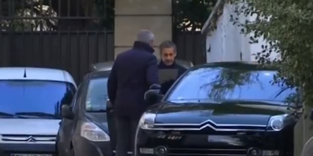 Nicolas Sarkozy est rentré chez lui à l'issue de sa garde à vue (Image prise mardi 20 mars).