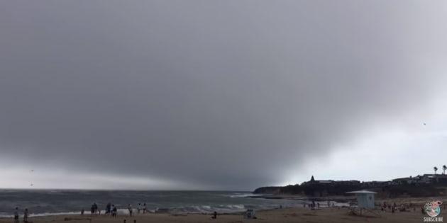 Cet impressionnant nuage ne faisait que passer (très vite)