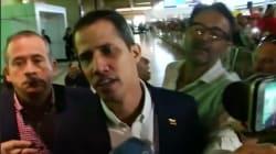 Juan Guaido acclamé par ses partisans pour son retour au