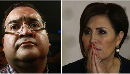 Javier Duarte y Rosario Robles usaron al mismo empresario para desviar