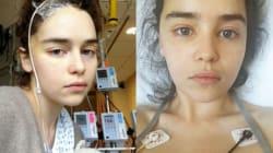 Emilia Clarke de Game of Thrones partage ses photos à l'hôpital après ses