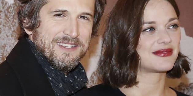 """Marion Cotillard et Guillaume Canet à la première du film """"Rock'n Roll"""" à Paris, le 13 février 2017."""