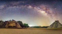 La mágica historia detrás de esta foto de Chichén Itzá bajo la vía
