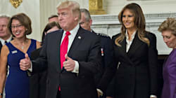 In Bizarre Photo Op, Trump Tells Press 'This Is The Calm Before The