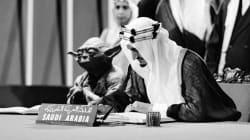 Arabia Saudita imprime libros de texto con foto del rey junto a