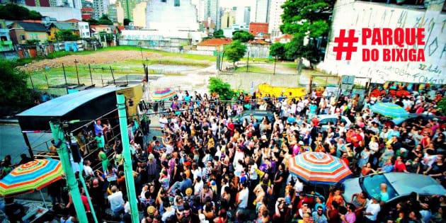 Moradores e manifestantes realizam ato pela criação do Parque do Bixiga.