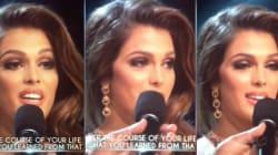 Le traducteur d'Iris Mittenaere au concours de Miss Univers ne l'a pas
