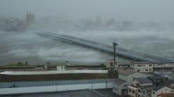 Les dégâts impressionnants provoqués par le typhon Jebi, le plus violent à frapper le Japon depuis 25