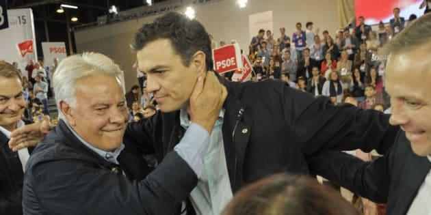 Felipe González y Pedro Sánchez, en una imagen de archivo.
