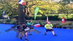 La Tour Eiffel a couru le marathon de