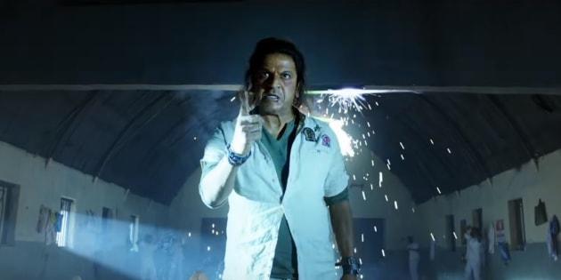 Shiva Rajkumar in a still from 'The Villain'.