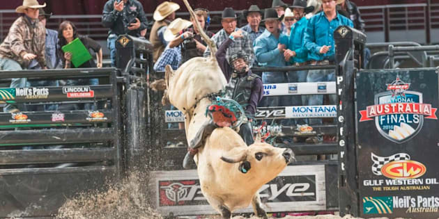 Bull rider Bradie Gray has been severely injured at a U.S. rodeo.