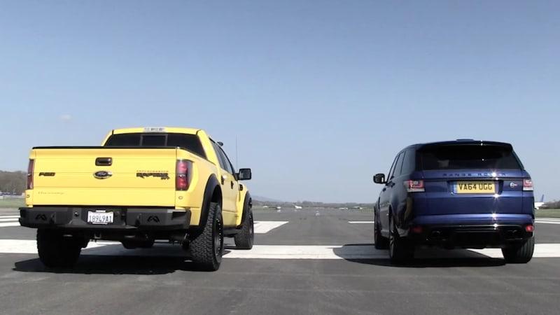 Top Gear pits Hennessey VelociRaptor vs Range Rover Sport SVR