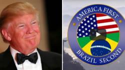 Sátira faz apelo a Trump: América em 1º lugar, Brasil em